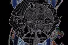 一组民族风味的手机手绘壁纸