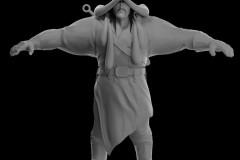 蒙古动画角色设计|白模展示