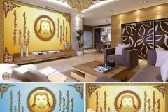 【美格装饰】蒙古元素壁画