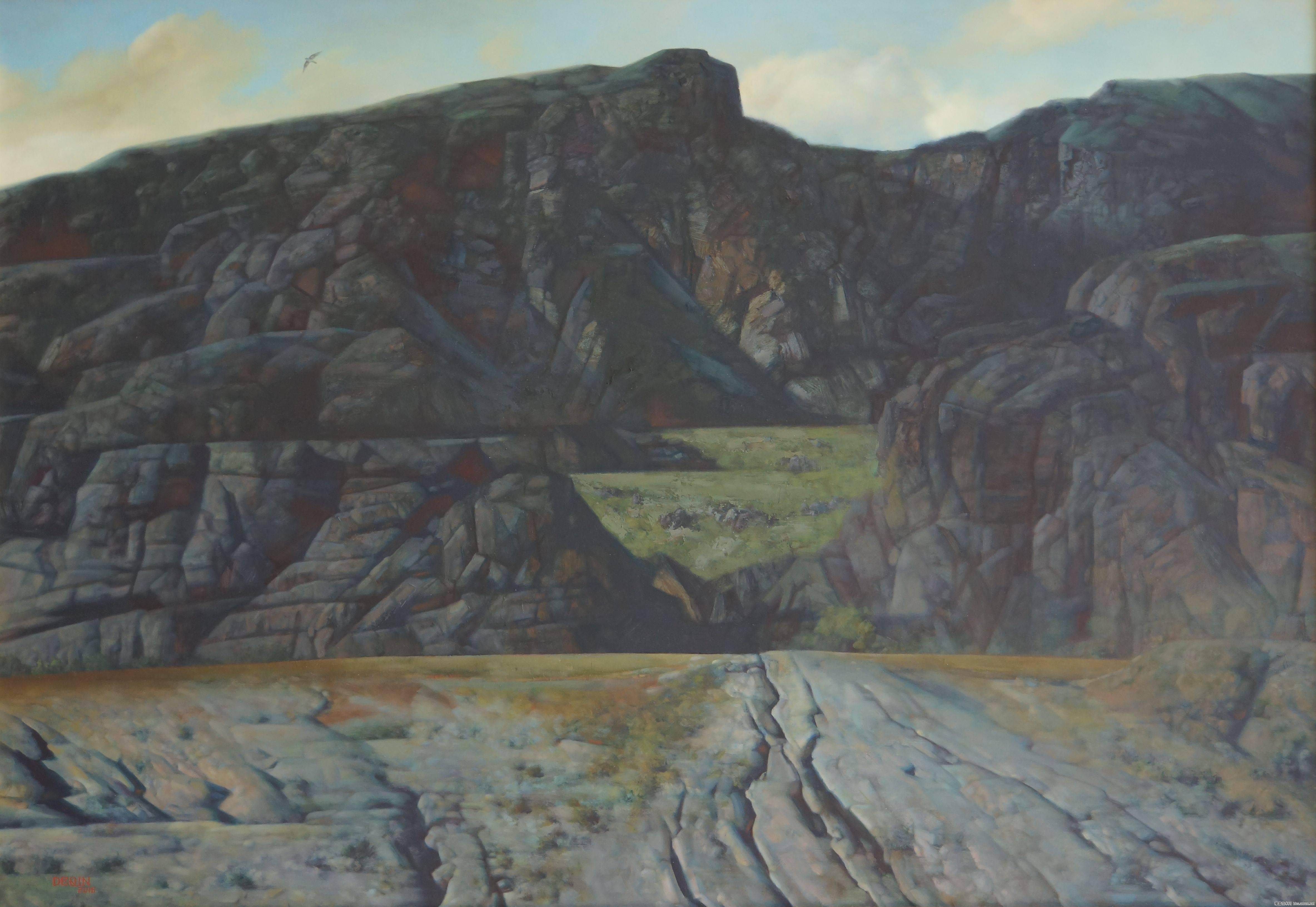德钦老师的油画  蒙古草原 系列阿鲁科尔沁 第2张