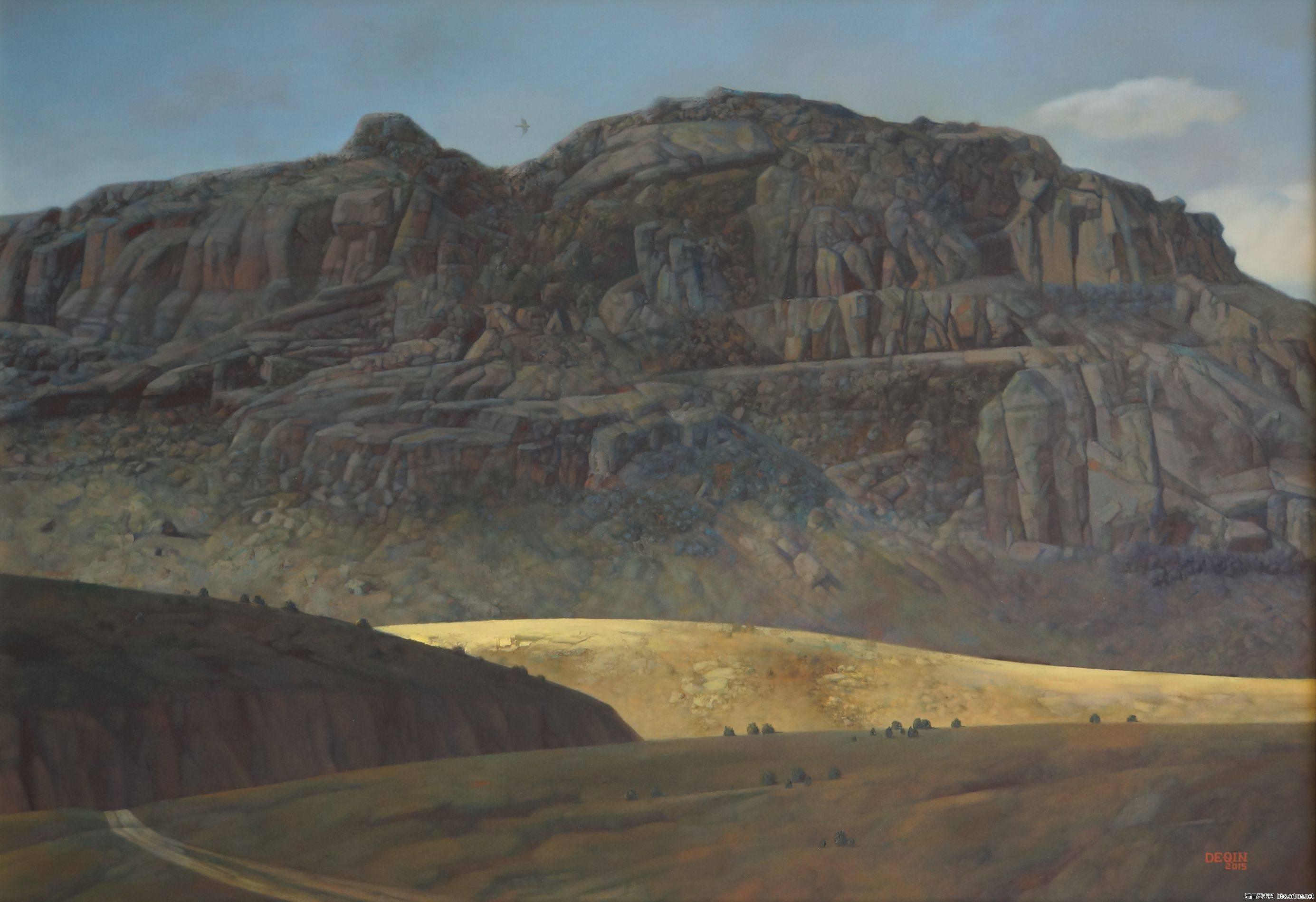 德钦老师的油画  蒙古草原 系列阿鲁科尔沁 第7张