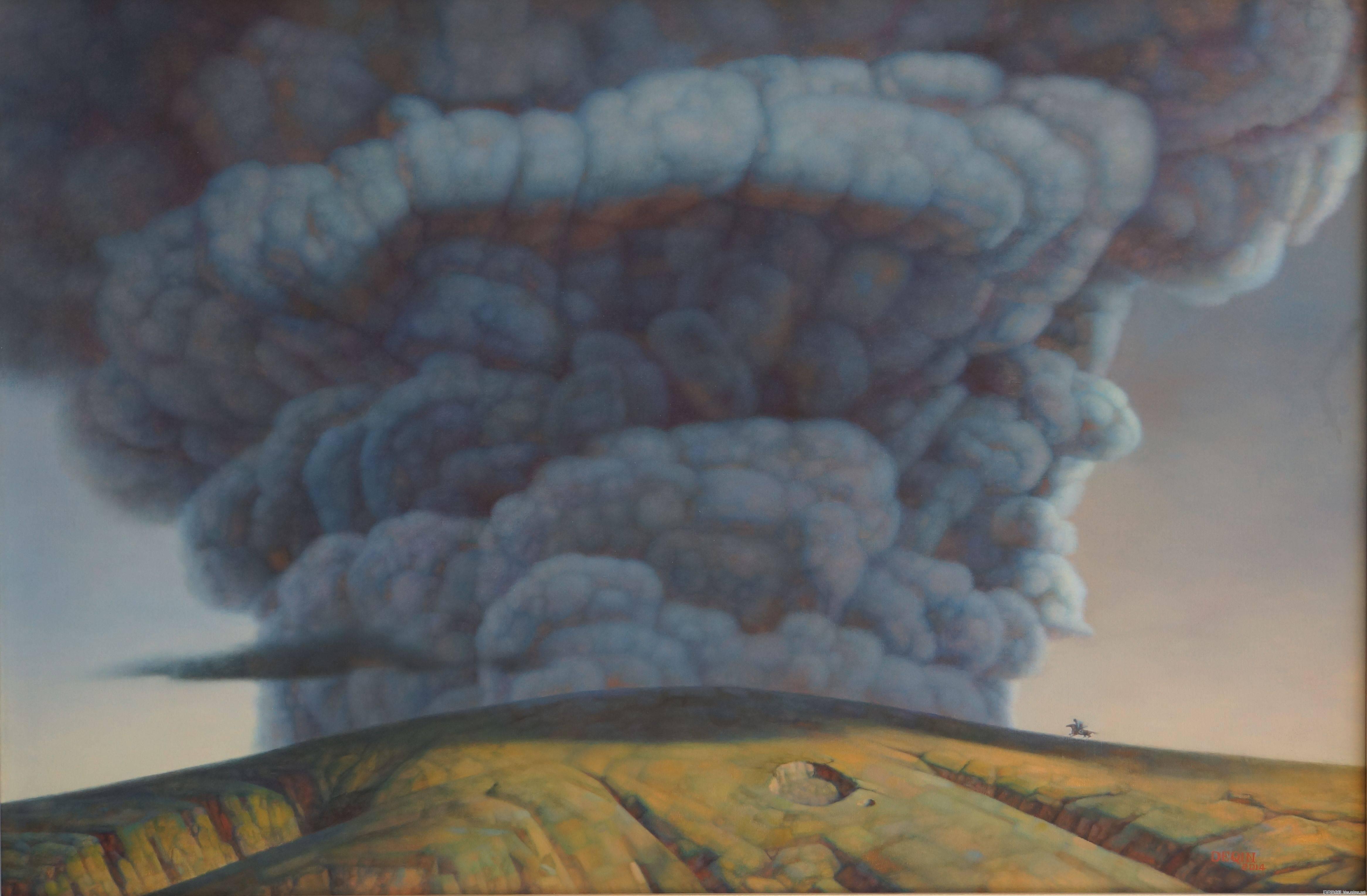 德钦老师的油画  蒙古草原 系列阿鲁科尔沁 第6张