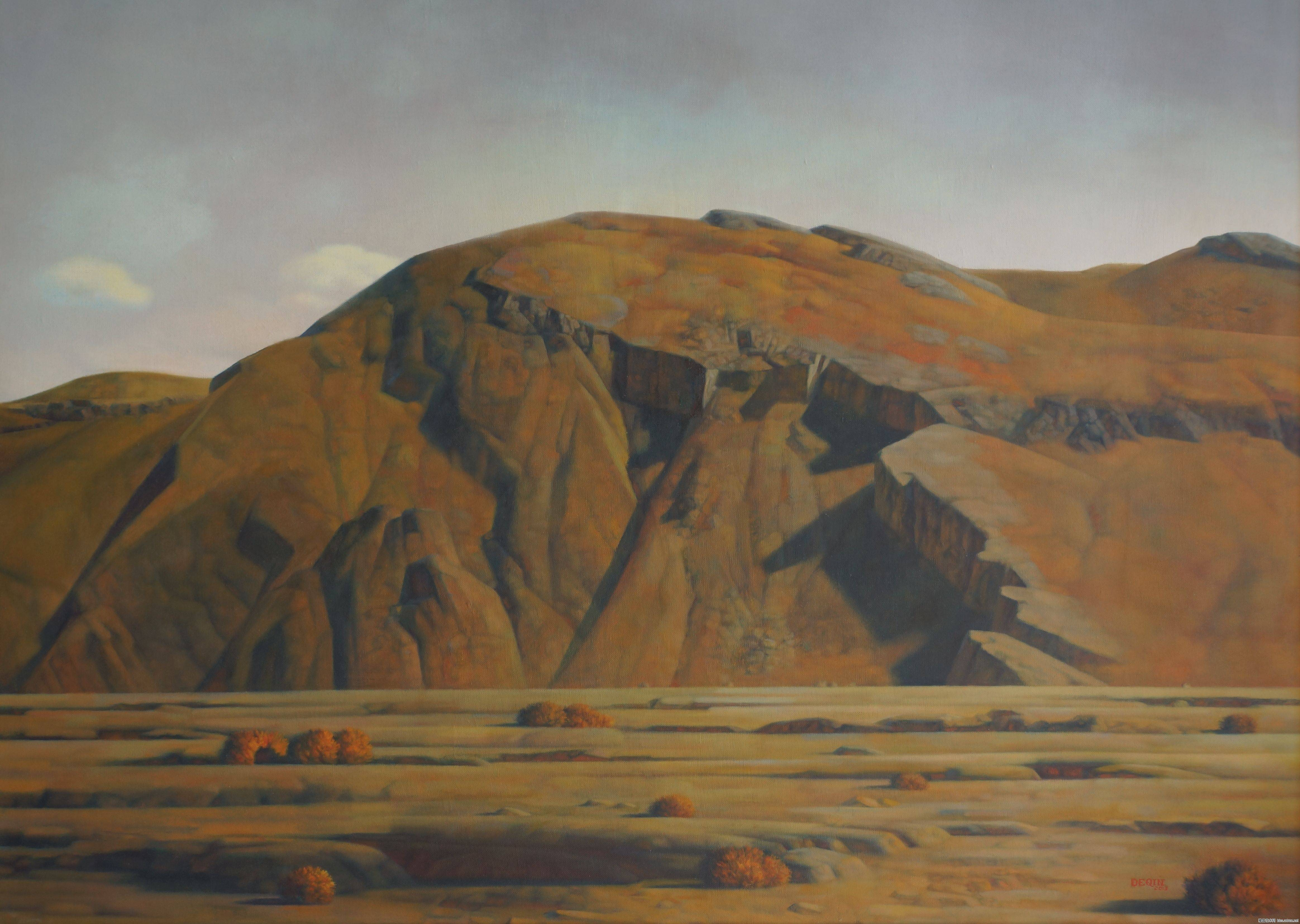 德钦老师的油画  蒙古草原 系列阿鲁科尔沁 第9张