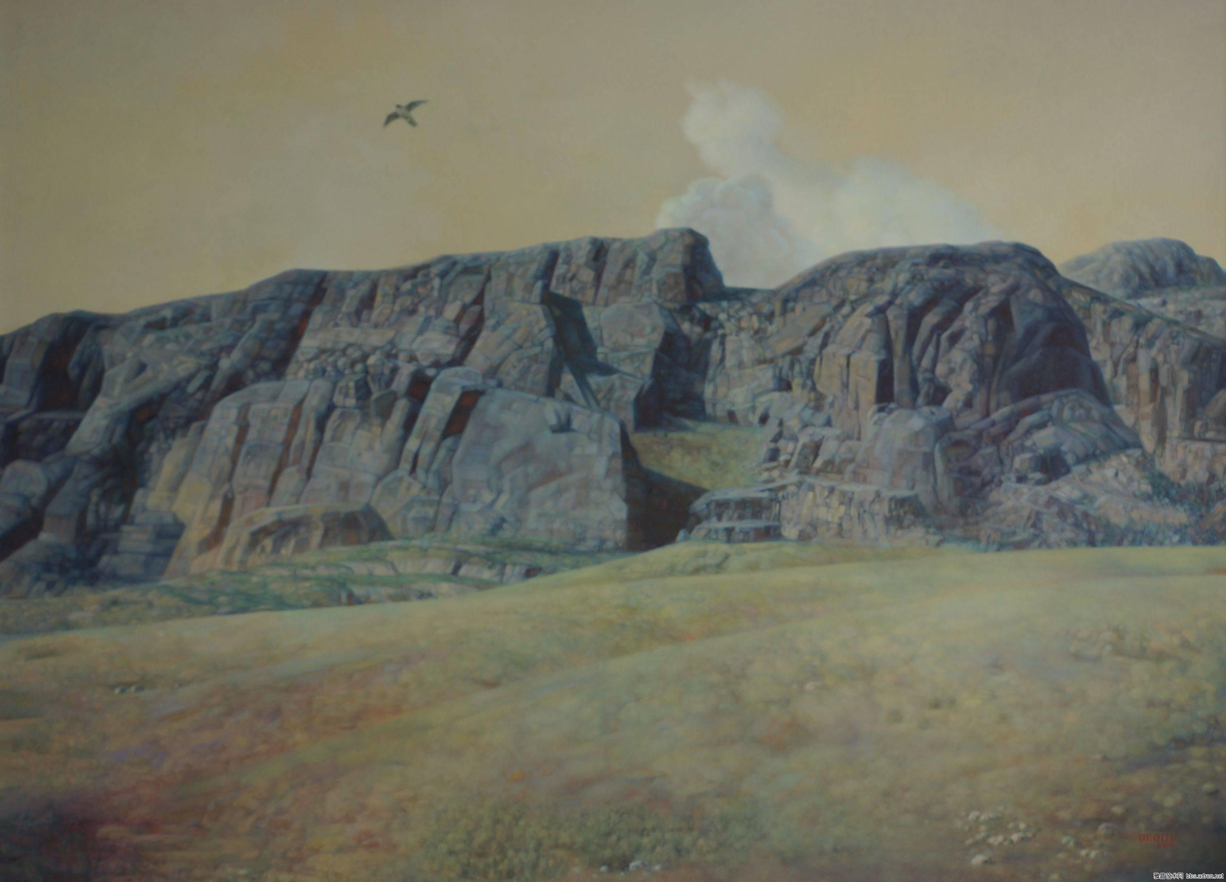 德钦老师的油画  蒙古草原 系列阿鲁科尔沁 第8张