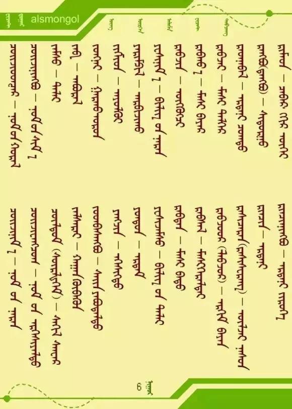 蒙古人常用的藏语名字的蒙古语含义 第13张
