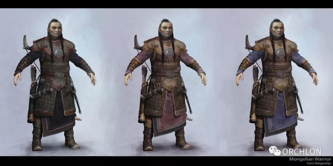 蒙古勇士高级角色设计作品 第2张