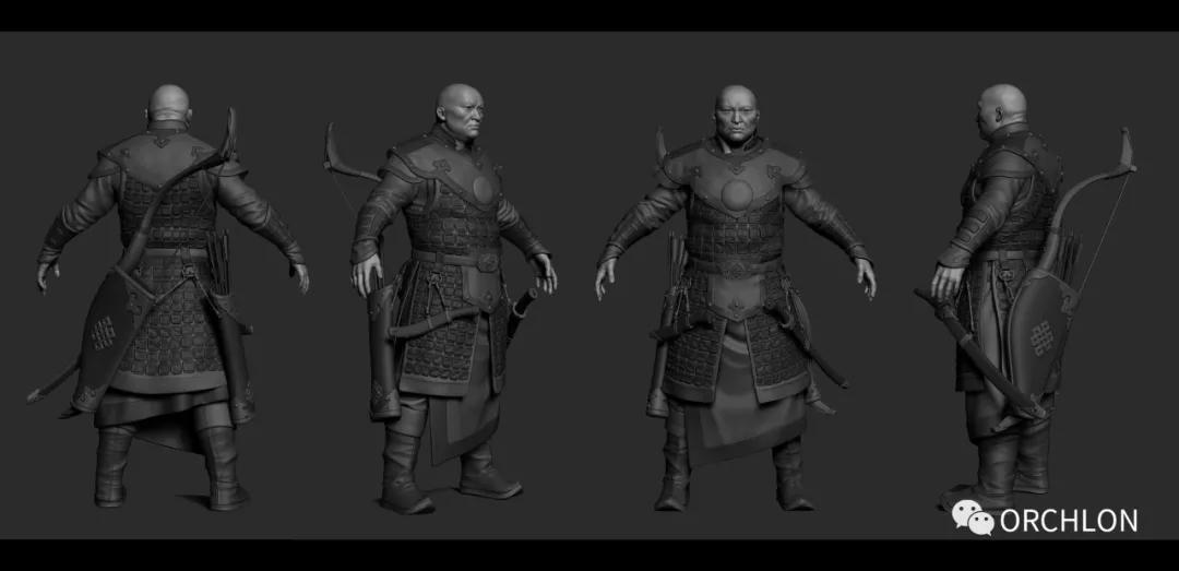 蒙古勇士高级角色设计作品 第8张