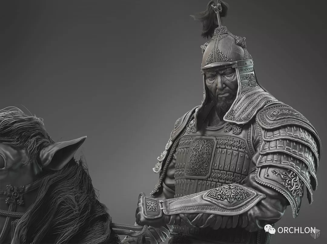 数字雕刻作品|Chinggis Khaan 第2张