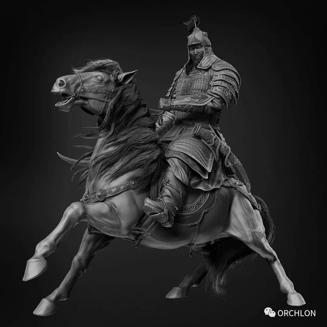 数字雕刻作品|Chinggis Khaan 第5张
