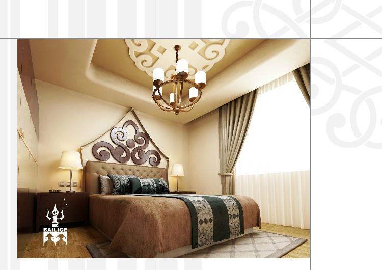 蒙古风格居住空间设计 --百丽格设计 第6张