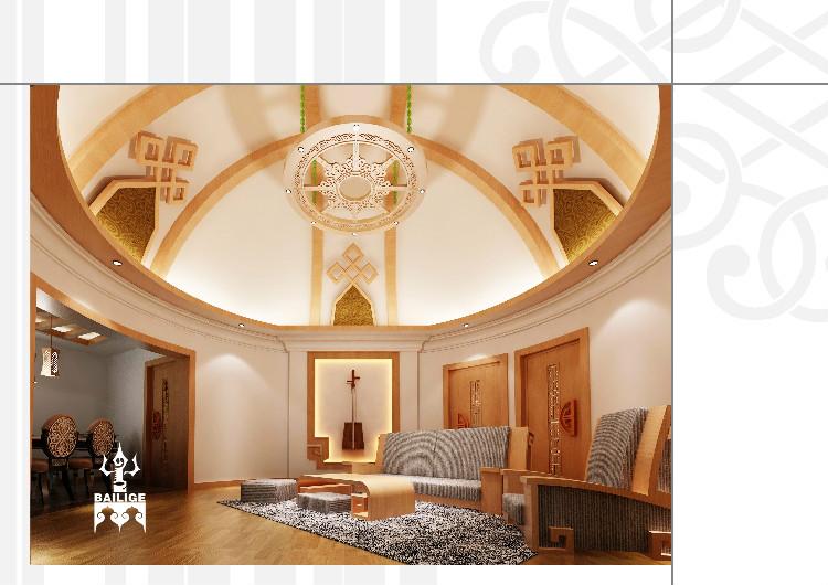 蒙古风格居住空间设计 --百丽格设计 第5张