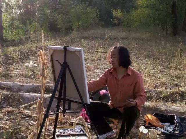 内蒙古画家——温海油画创作及写生作品! 第1张