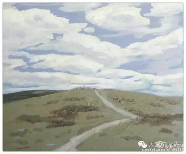 内蒙古画家——温海油画创作及写生作品! 第10张