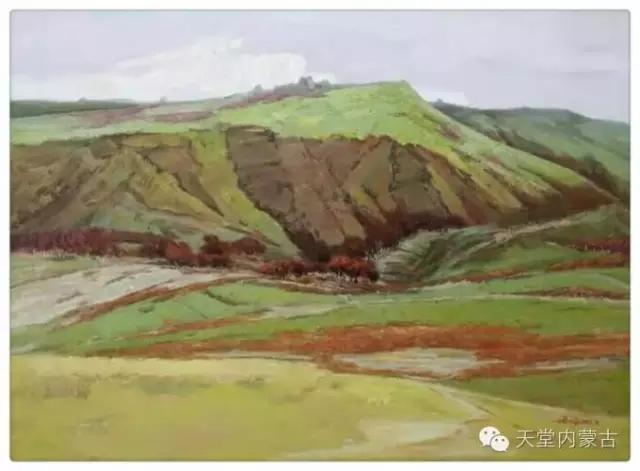 内蒙古画家——温海油画创作及写生作品! 第4张