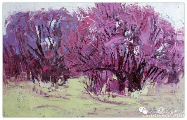 内蒙古画家——温海油画创作及写生作品! 第11张