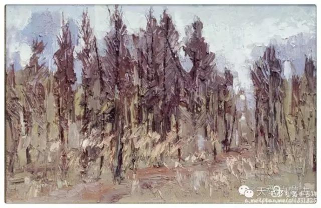 内蒙古画家——温海油画创作及写生作品! 第14张