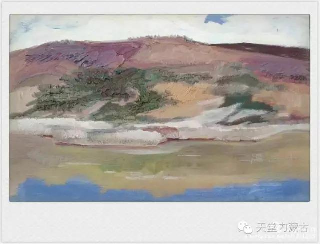 内蒙古画家——温海油画创作及写生作品! 第12张