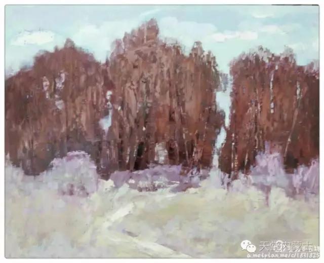 内蒙古画家——温海油画创作及写生作品! 第19张