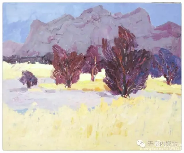 内蒙古画家——温海油画创作及写生作品! 第18张