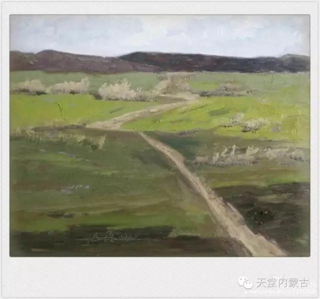 内蒙古画家——温海油画创作及写生作品! 第16张