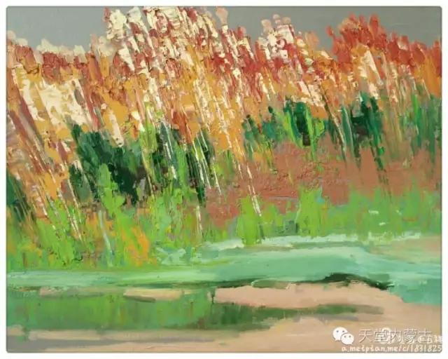 内蒙古画家——温海油画创作及写生作品! 第17张