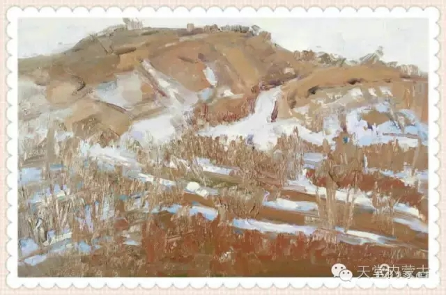 内蒙古画家——温海油画创作及写生作品! 第31张