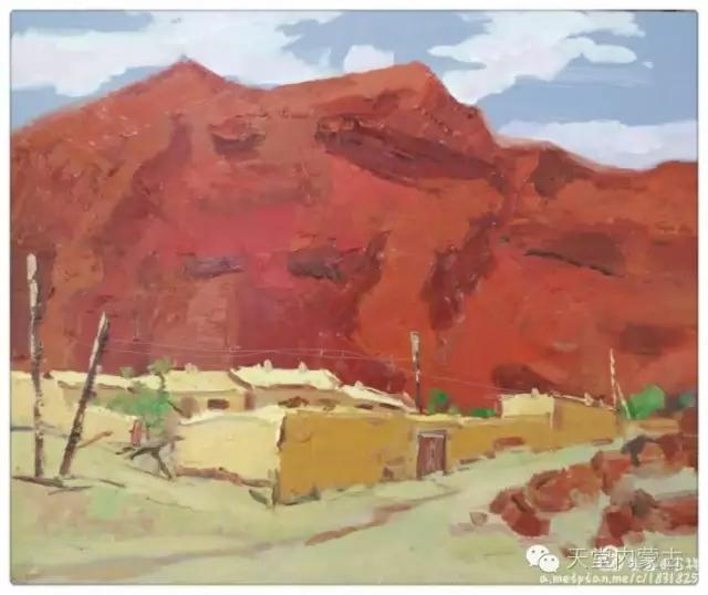 内蒙古画家——温海油画创作及写生作品! 第24张
