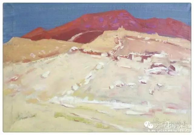 内蒙古画家——温海油画创作及写生作品! 第26张