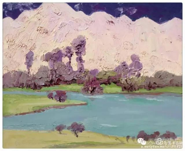 内蒙古画家——温海油画创作及写生作品! 第22张