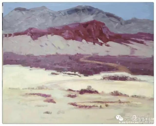 内蒙古画家——温海油画创作及写生作品! 第23张