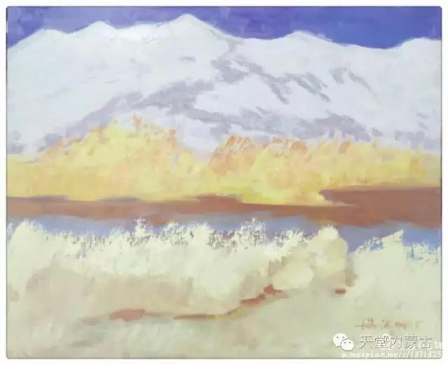 内蒙古画家——温海油画创作及写生作品! 第28张