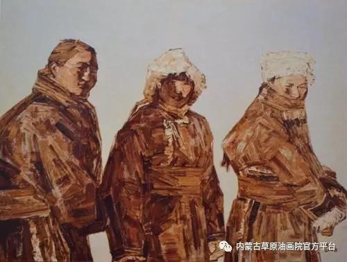 内蒙古草原油画院画家燕小军油画作品 第3张