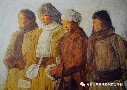 内蒙古草原油画院画家燕小军油画作品 第5张