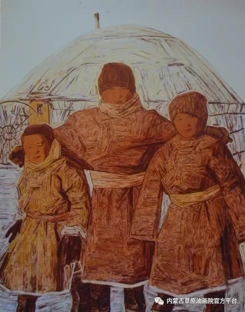 内蒙古草原油画院画家燕小军油画作品 第8张