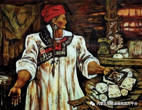 内蒙古草原油画院画家哨布 第1张