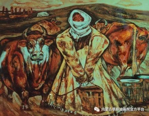 内蒙古草原油画院画家哨布 第2张