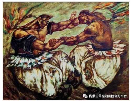 内蒙古草原油画院画家哨布 第4张