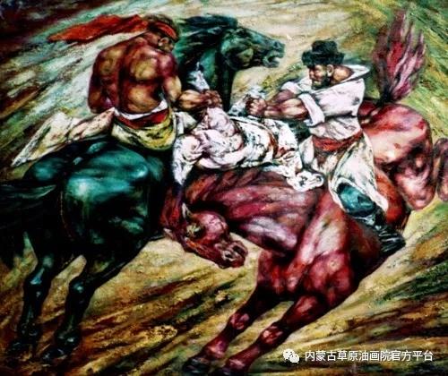 内蒙古草原油画院画家哨布 第7张