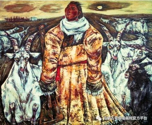 内蒙古草原油画院画家哨布 第5张