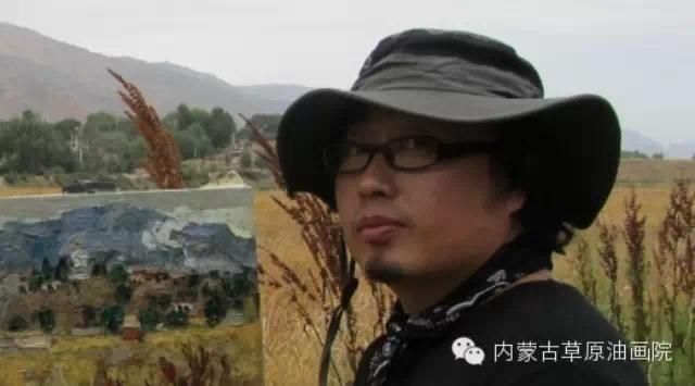 内蒙古草原油画院画家--哈斯乌拉 第1张
