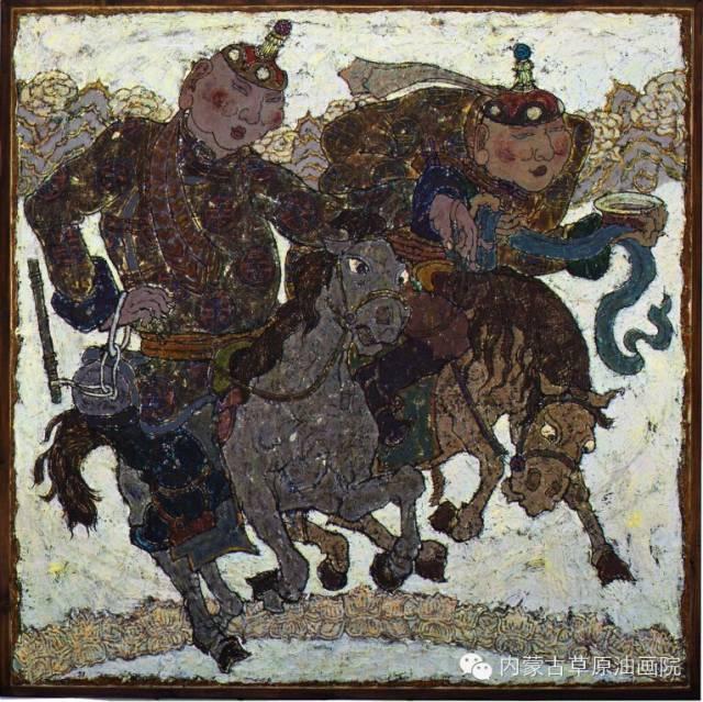 内蒙古草原油画院画家--哈斯乌拉 第4张