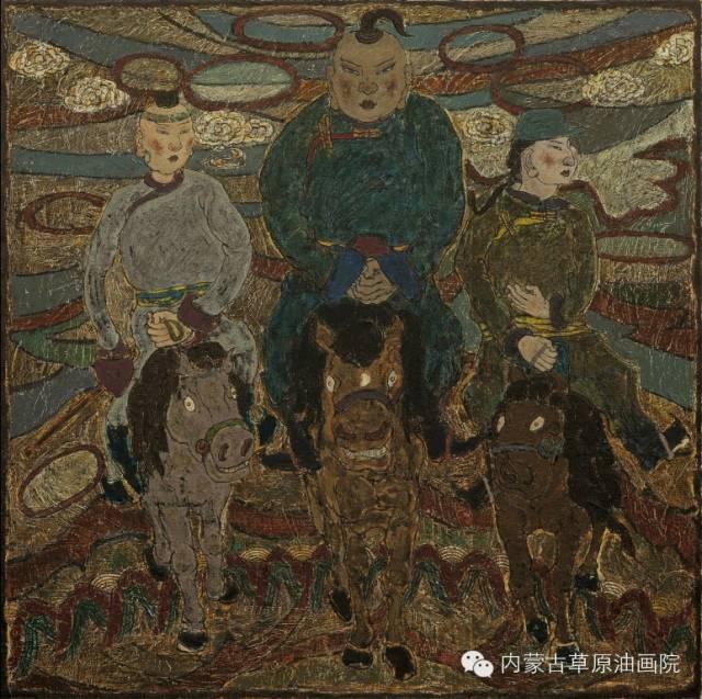 内蒙古草原油画院画家--哈斯乌拉 第14张
