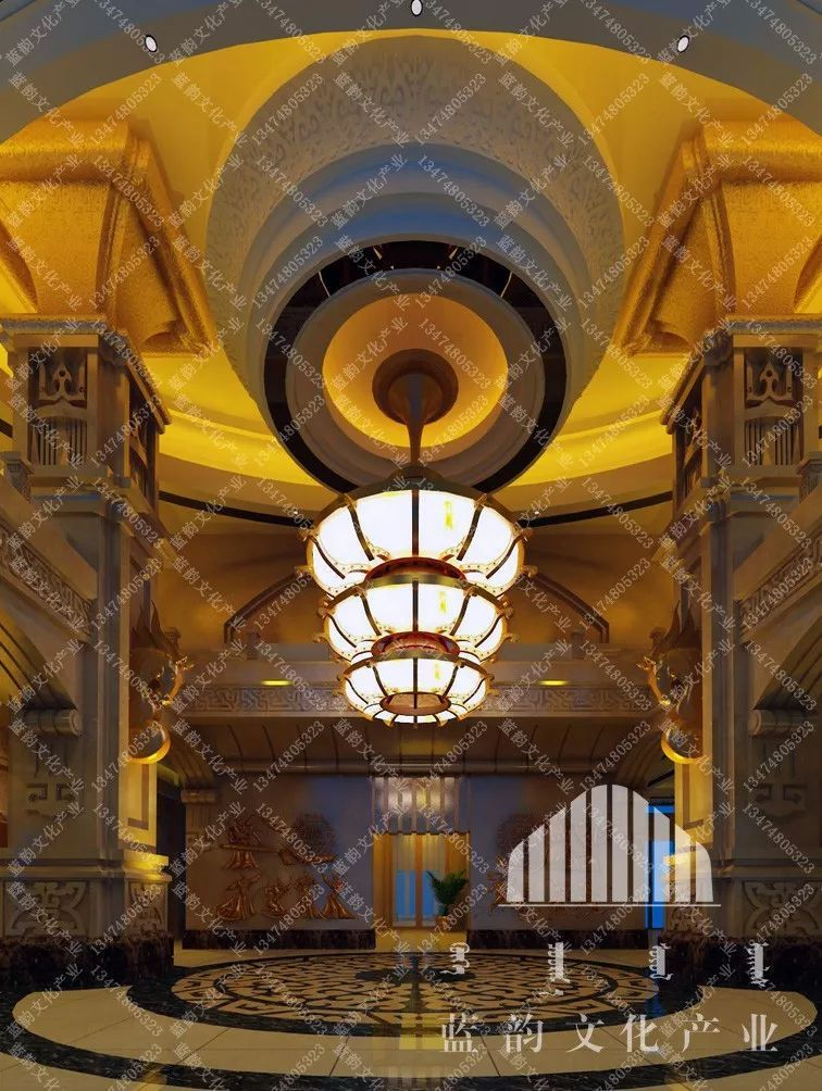 蒙古风格建筑设计—蓝韵文化产业 第6张