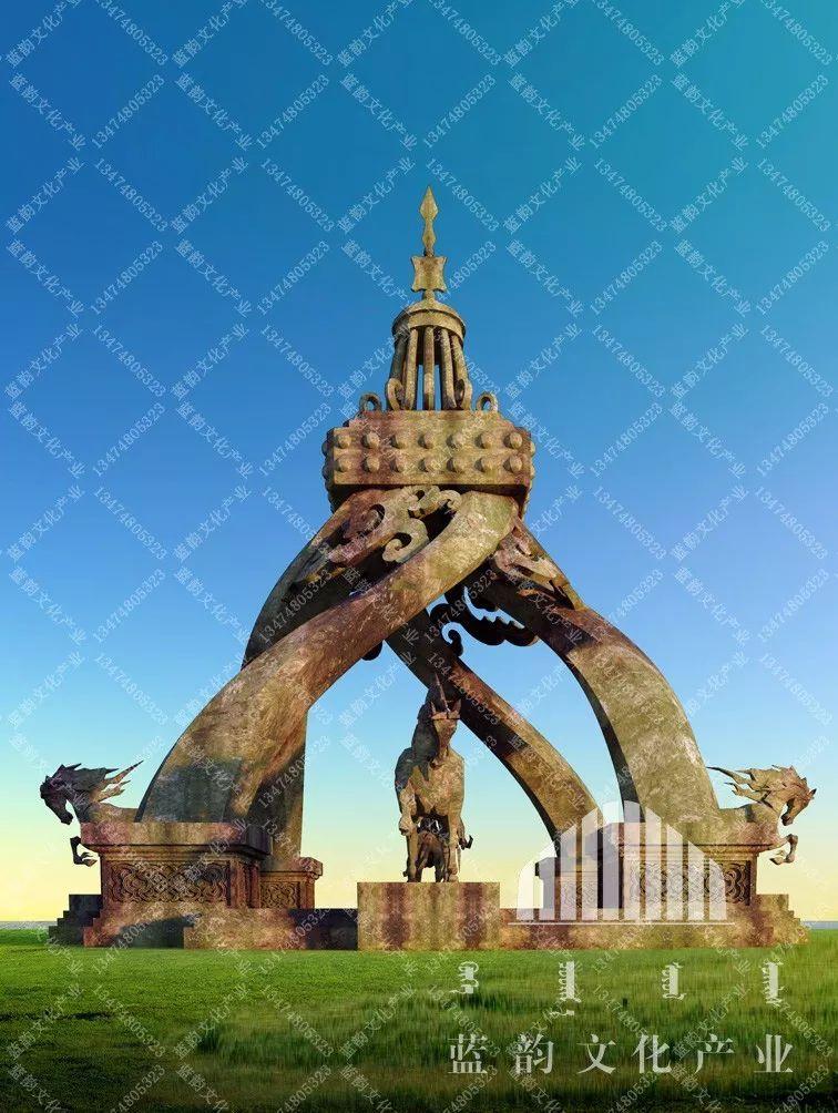 蒙古风格建筑设计—蓝韵文化产业 第7张