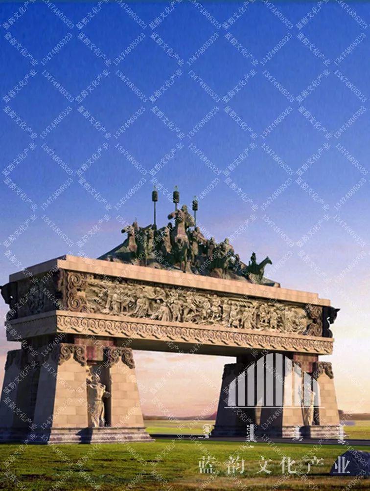 蒙古风格建筑设计—蓝韵文化产业 第8张