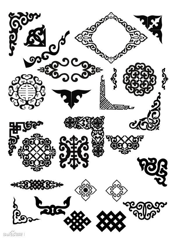 一些蒙古图案(矢量图) 第2张