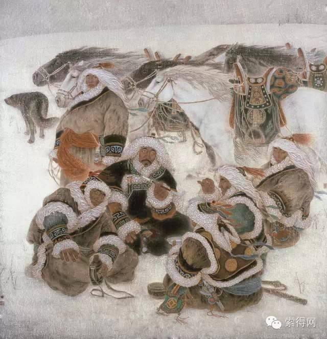 蒙古族著名画家白嘎力 第6张