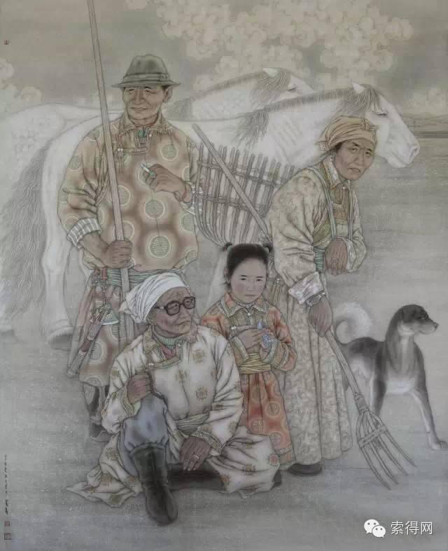 蒙古族著名画家白嘎力 第4张
