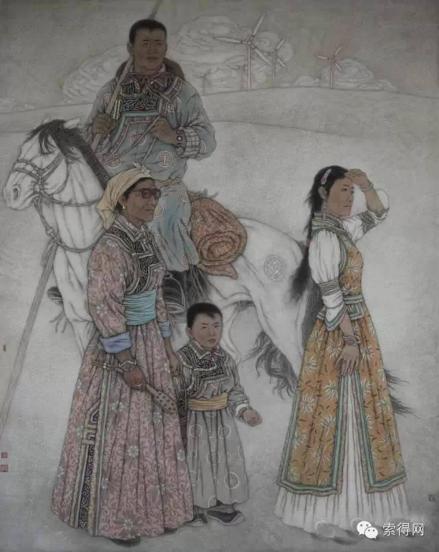 蒙古族著名画家白嘎力 第5张