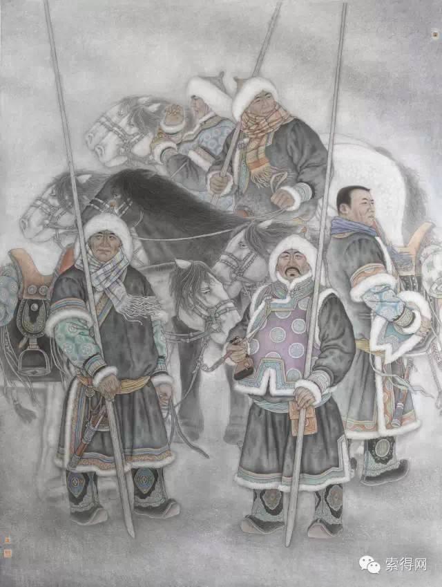 蒙古族著名画家白嘎力 第7张